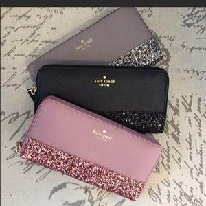 Kate Spade GLITTER a wallet clutch NEW